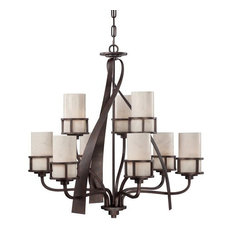Onyx chandeliers houzz quoizel kyle 9 light 2 tier 35w chandelier iron gate with onyx aloadofball