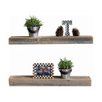 Natural Original Floating Shelves, Set of 2