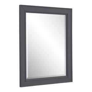 """Napa 28"""" Wall Mirror, Charcoal Gray"""