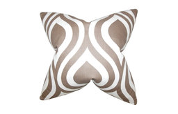 """Larch Geometric Pillow, Brown, 22""""x22"""""""