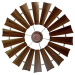 """Windmill Ceiling Fan Company - Windmill Ceiling Fan, 72"""", Rustic Brass - Our Windmill Ceiling Fan is the showpiece you have been searching for.  It presents the beauty and durability of the traditional windmill, and installs easily.  Perfect for interior and exterior placements. Offers a 4 speed, reversible motor and military grade aluminum for durability and light weight.  Each fan is handcrafted in the heart of Texas.  Shipped Assembled.  Includes a 3"""", 11"""" and 36"""" Downrod"""