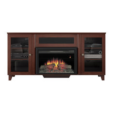Furnitech Llc 70 Shaker Style Tv Console With 25 Electric Fireplace