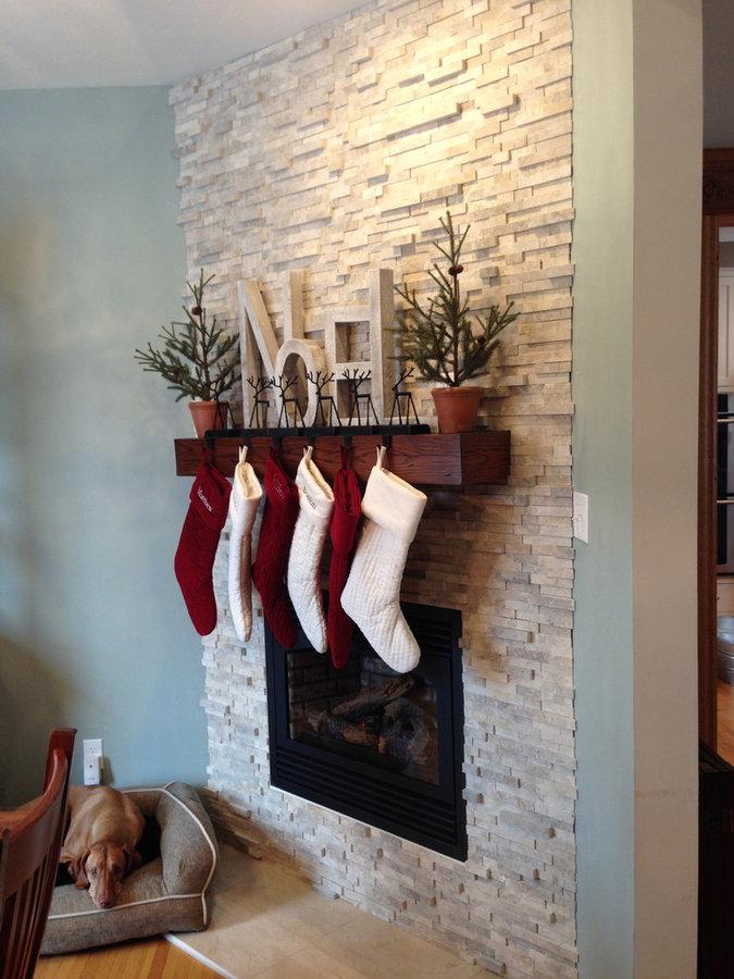 modern oak fireplace