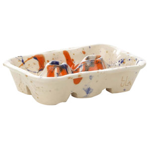 White and Orange Weah Charming Container