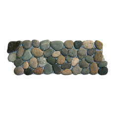 Colin Locke 4 X12 Bali Ocean Pebble Tile Border Accent Trim And