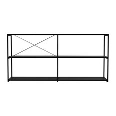 Q16 Double Display Shelf, Black