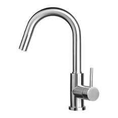 OUSIA Home Solid Stainless Steel Handle Dual Spray Pull-Out Kitchen Faucet