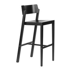 The 100 Bar Stool 29-inch Seat Height Black