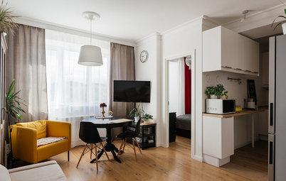 Houzz тур: Из однушки 44 кв.м — квартира со спальней