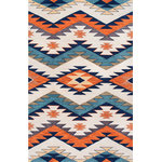 nuLOOM - Hand Hooked Southwestern Pyramid Maze Rug, 5'x8' - Made from the finest materials in the world and with the uttermost care, our rugs are a great addition to your home.