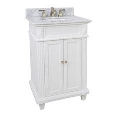 Lyn Design VAN094-T-MW, White Marble Top