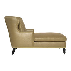 Chaise lounge chairs houzz for Black and gold chaise lounge