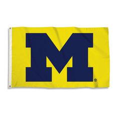 University of Michigan, 3'x5' NCAA Polyester Flag, maize
