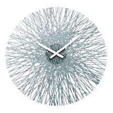 Koziol Silk Wall Clock, Anthracite