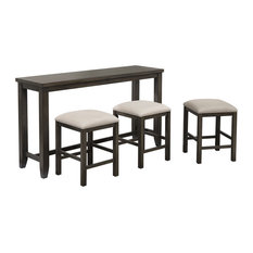 Sunset Trading Shades of Gray 4 Piece Small Pub Table Set