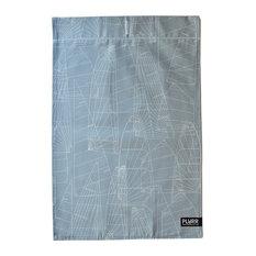 """""""Grey Sail"""" Cotton Tea Towel"""