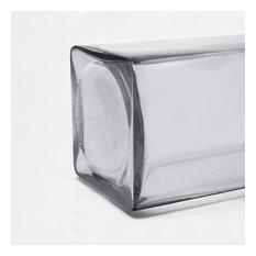 "Glass Square Vase, Set of 4, Open 6"""