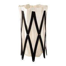 Laundry Basket, Beige and Black, Beige and Black