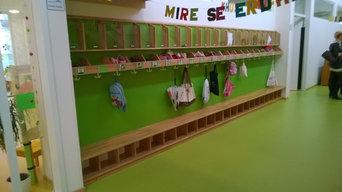Kindergarten Spielinsel -  Garderoben