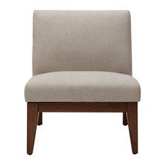 Madison Park Kari Slant Back Wood Accent Chair