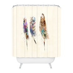 Deny Designs Brian Buckley Free Feathers Shower Curtain