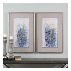"Uttermost ""Indigo Florals"" 2-Piece Framed Art Set, 27.5""x41.5"""
