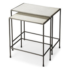 Butler Carrera Marble Nesting Tables, 2-Piece Set
