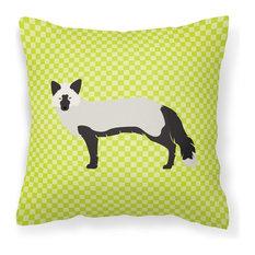 Silver Fox Green Fabric Decorative Pillow