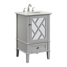 "21"" Single Bathroom Vanity Set, Gray"