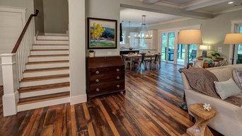 red/whit oak barnwood install and sanding