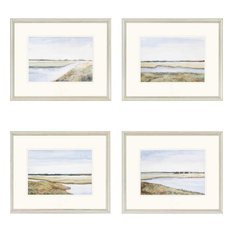 "Marshes Artwork, Set of 4, 22""x18"""