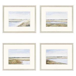 "Marshes Artwork, Set of 4, 22""x18"""