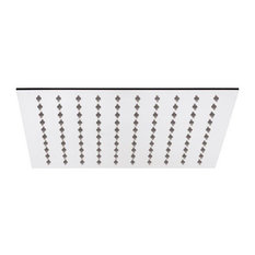 "Thin Rain 12"" Square Fixed Bathroom Shower Head with Chrome Finish"