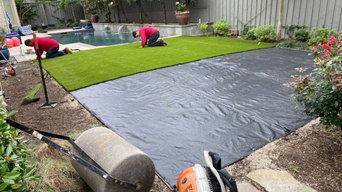 Synthetic turf installation