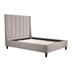 Zuo Modern Contemporary - Gilded Age Queen Bed, Dove Gray - Platform Beds