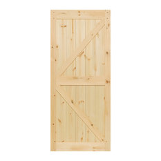 "Barn Door Kimberly Bay K-Rail Unfinished Solid Pine, 83.5""x36""x1.375"""