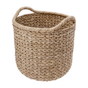 Extra Large Handwoven Decorative Storage Basket, Twisted Sea Grass