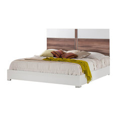 Nova Domus Giovanna Italian Modern White and Cherry Eastern King Bed