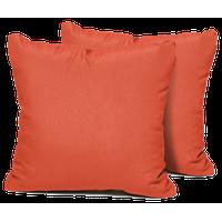 Tangerine Outdoor Throw Pillows Square, Set of 2