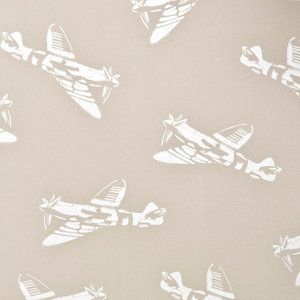 """PaperBoy Interiors """"Spitfires"""" Wallpaper, Beige and White"""
