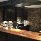 Novi Finished Basement Traditional Home Bar Detroit