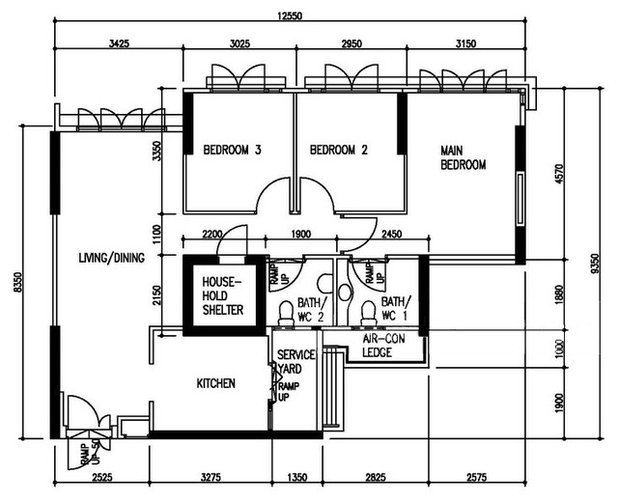 4 Room BTO Flat: 1 Floor Plan, 3 Different Looks