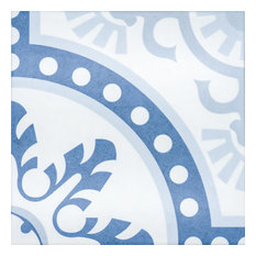 Girona 10 x 10 Ceramic Tile for Floor/Wall in Blues and White
