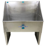 """Groomer's Best - Dog Wash/Utility Sink, 48"""", Left Drain - Features:"""
