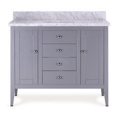 Elsa Single Bathroom Vanity, Gray, 42""