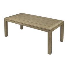 Redon Teak Outdoor Dining Table, Natural, Rectangular