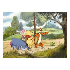 Winnie The Pooh Expedition Photo Wall Mural, 254x184 cm