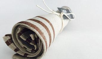 Hand Printed 100% Linen Fabric