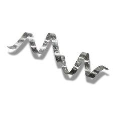 Jon Allen Fine Metal Art - Contemporary Metal Wall Sculpture, Modern Metal Wall Art, Decor, Silver Twist - Metal Wall Art