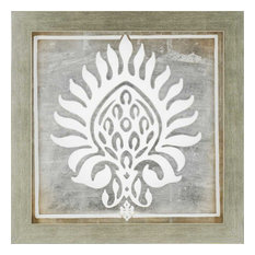 Paragon Decor Brocade In White Ii Artwork 29 X29 Paintings